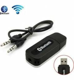 Título do anúncio: Receptor Adaptador Bluetooth Usb P2 Audio Stereo