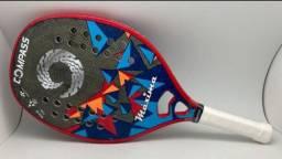 Raquete Beach tênis nova Compass de kevler Maxima
