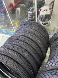 par pneu para motos fan titan factor com câmara remold vipal entrega todo rio