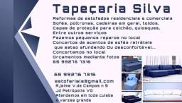Título do anúncio: Tapeçaria Silva Reformas e concertos de sofás cadeiras...