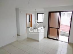 Apartamento 2 dormitórios (uma suíte), 2 banheiros e garagem.
