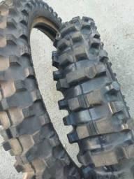 Par de pneus Rinaldi Par 100/90-17 e 90/90-19 Sh31