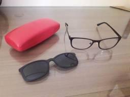 Óculos de sol e grau 2 em 1