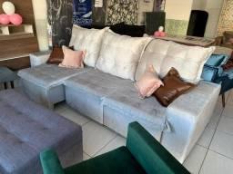 Estofado retrátil e reclinável Pillow 2.75 mt disponível na Maria Lacerda