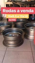 Roda taluda de ferro 15x8,5 e 15x10