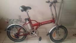 Bicicleta Elétrica Dobrável em Alumínio Shineray aro 20