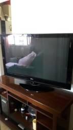 Vende-se TV Plasma LG 42 polegadas + conversor digital + Rack