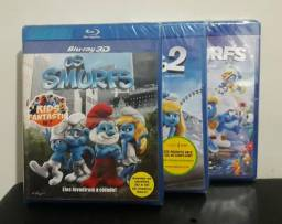 Blu-ray Trilogia Smurfs - Lacrados