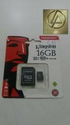 Cartão de memória Kingston Classe 10 16GB 80MB/s