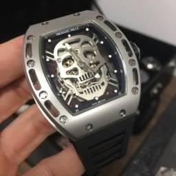 b5813509d68 Relógio Richard Mille Skull Titanium até 10x sem juros!