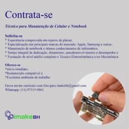 Técnico para Manutenção de Celular e Notebook
