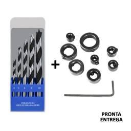 Conjunto De Brocas Para Cavilhas C/ Limitadores 4 5 6 8 10mm