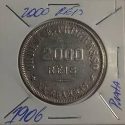Moeda de 2000 Réis de 1906 de Prata