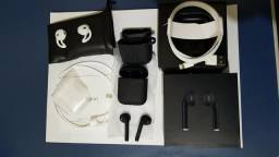 AIRPODS 2 BlACK + KIT SILICONE