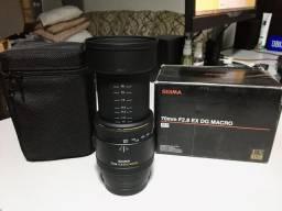 Lente Sigma 70mm F/2.8 Ex DG Macro para câmeras Full Frame Sony A-mount