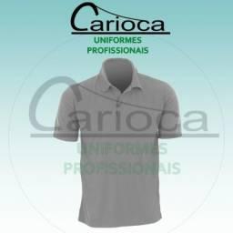 Camisa cinza Gola Polo