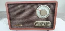 Retro bluetooth rádio de madeira- novo ( lacrado na caixa)