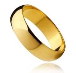Aliança aço inoxidável ouro