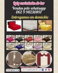 Colchas,cortinas ,saia box,capa de sofa ,varão , lençóis