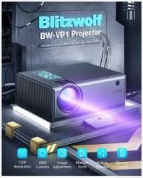 Projetor Blitzwolf BW-VP1 LCD 2800 Lumens 720p HD Qualidade Cinema 3x Sem Juros