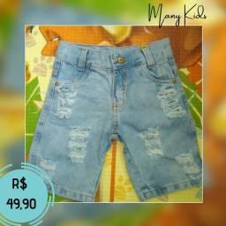 Bermudas jeans infantil