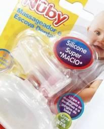 Massageador e escova de dentes para Bebê
