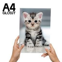 Título do anúncio: 100 Folhas Papel Fotográfico Brilho A4 (21,0x29,7cm) 115g/m²