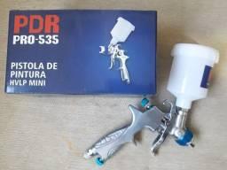 Pistola de Pintura e Cola Gravidade Hvlp 0.8mm 125ml Pro535 LDR2