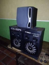 Título do anúncio: Aparelho de som TRC-338 com LED no auto falante