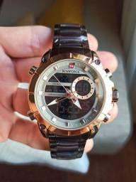 Relógio Naviforce (NF9163) Gold/Brown