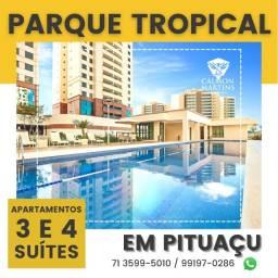 Título do anúncio: Apartamentos com 4 suítes, vista mar, em 155m², 3 vagas - Patamares