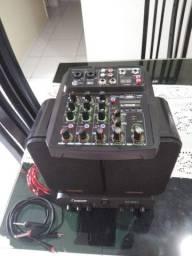Mesa de som c/ placa de áudio