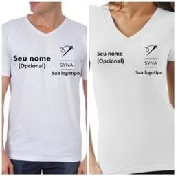 Título do anúncio: Camisa branca com sua marca bordada + nome