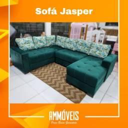 Promoção Sofá de Canto Jasper c/ Entrega Grátis!