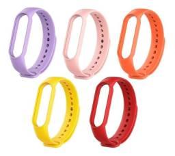 Título do anúncio: Kit Pulseira Mi Band 5 E 6 Smartwatch 5 Uni