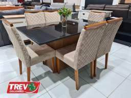 Mesa de Jantar Jasmin 6 Cadeiras - New Ceval
