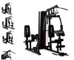 Título do anúncio: Estação de Musculação Kikos Gx4i Torre de 65kg + Leg Press Conjugada + Acessórios