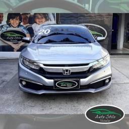 Honda Civic Touring CVT+Prata+10.153km+2020 CVT+Automático+Flex +Completo