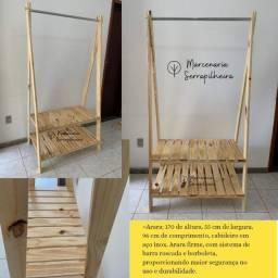 Título do anúncio: Arara ou closet aberto em madeira pinus