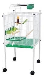 Título do anúncio: Gaiola Viveiro Caçulinha para Pássaros Calopsitas Bragança Cor Verde