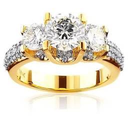 Anel de noivado ouro comercial