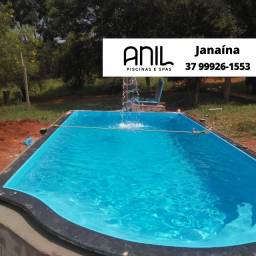 Título do anúncio: JA - Piscina de fibra 6 metros - escada onda