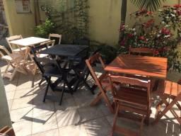 Conjuntos de Mesa com 2 ou com 4 cadeiras Dobrável em Madeira