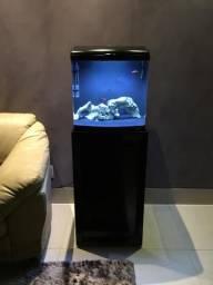 Aquario completo com móvel Jad Boyu 80lts