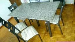 Mesa Granito 06 cadeiras