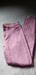 Calça jeans rosa n° 40
