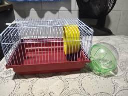 Gaiola para hamster e bolinha