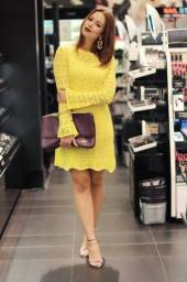 Vestido de linha amarelo