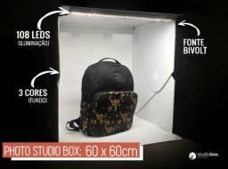 Studio photográfico em forma de caixa