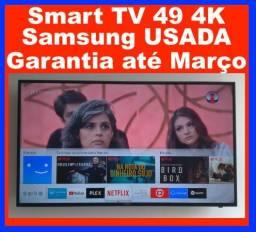 SmarT TV Samsung 49 4K MU6100 wifi netflix praticamente novo